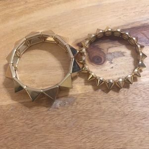 Urban Outfitters Gold Spike Bracelet Set